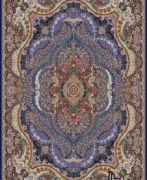 فرش ماشینی طرح باغستان