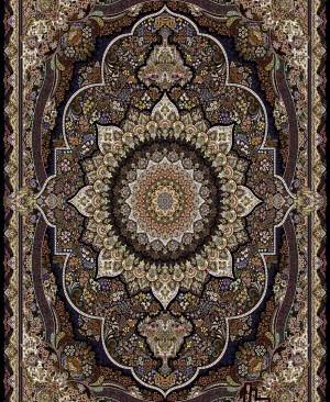 فرش 1000 شانه ده رنگ تراکم 3000 طرح پرهام سرمه ای