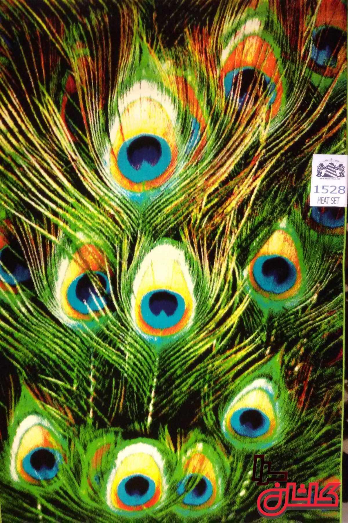 فرش عروسکی کاشان طرح پر طاووس