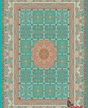 فرش اسایش کاشان برند معتبر و نمونه فرش 1200 شانه تراکم 3600