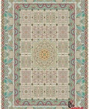 فرش 1200 شانه کاشان تراکم 3600 جنس درجه یک ممتاز بافته شده با نخ ترک