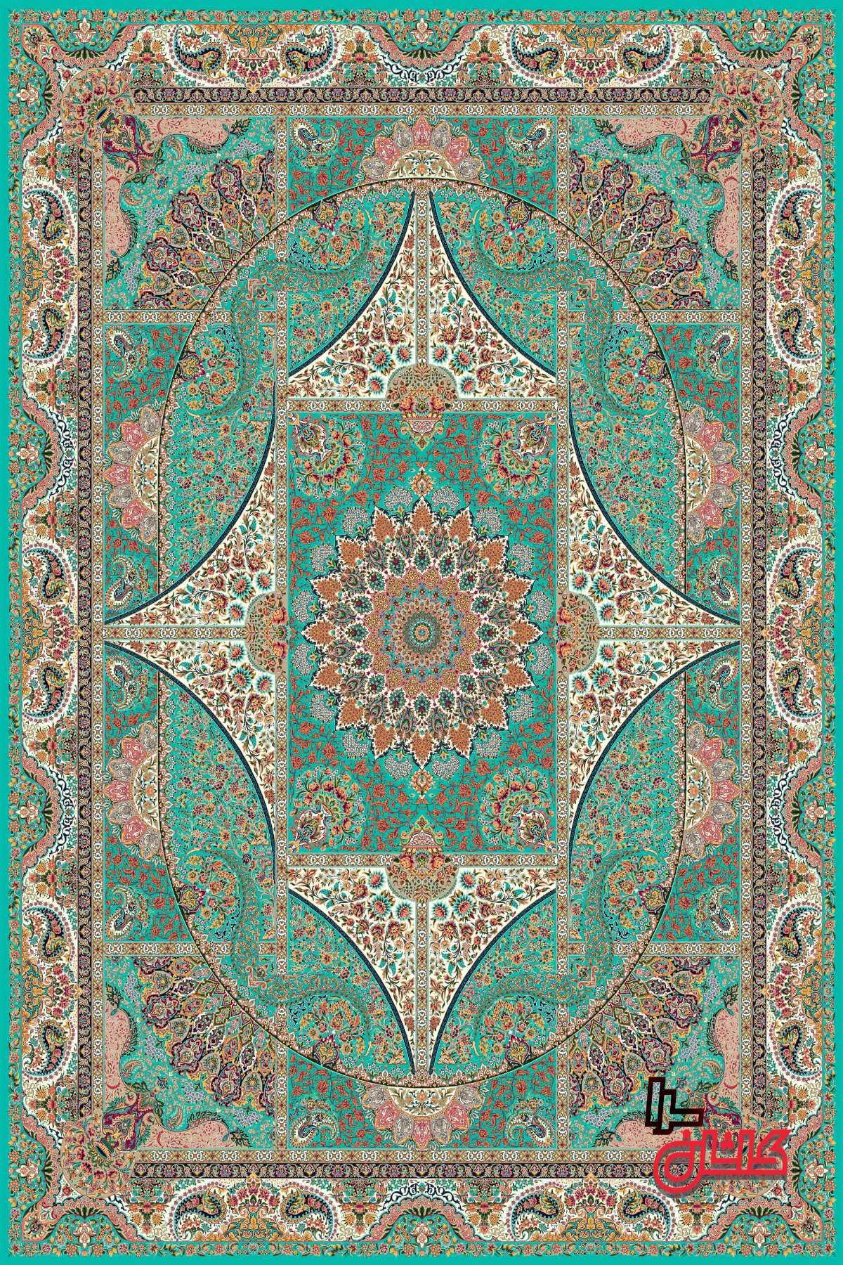 فرش ماشینی طرح خاص 1200 شانه تراکم 3600 کاشان