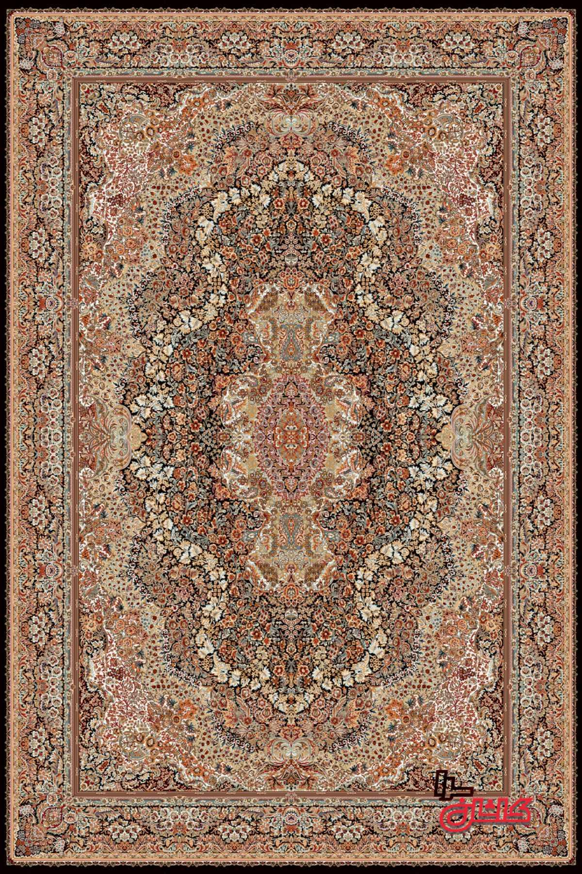 فرش ماشینی ۷۰۰ شانه طرح گلستان