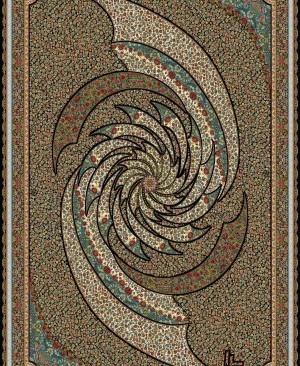 فرش ماشینی 1000 شانه نقشه تماشا