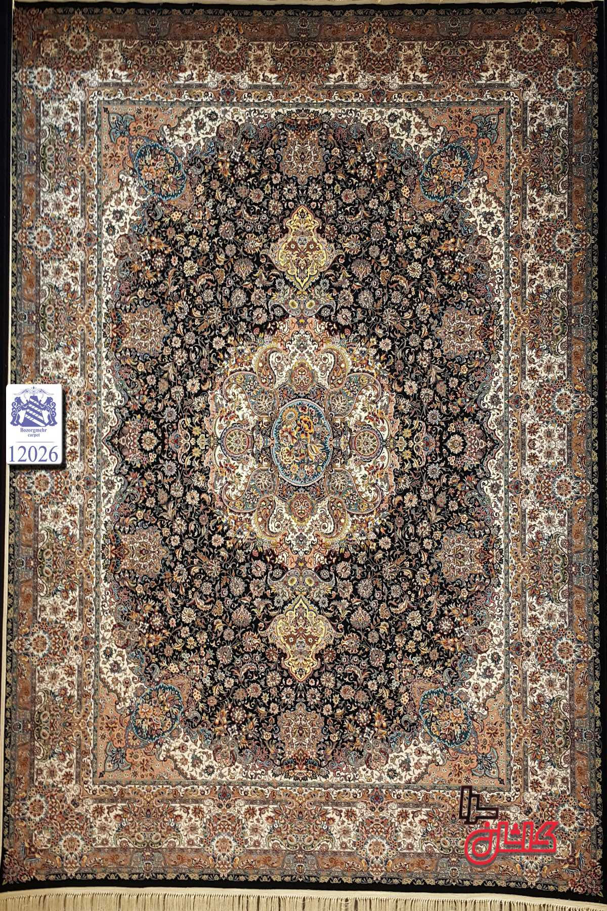 فرش های ریز بافت دستباف گونه 1200 شانه کاشان