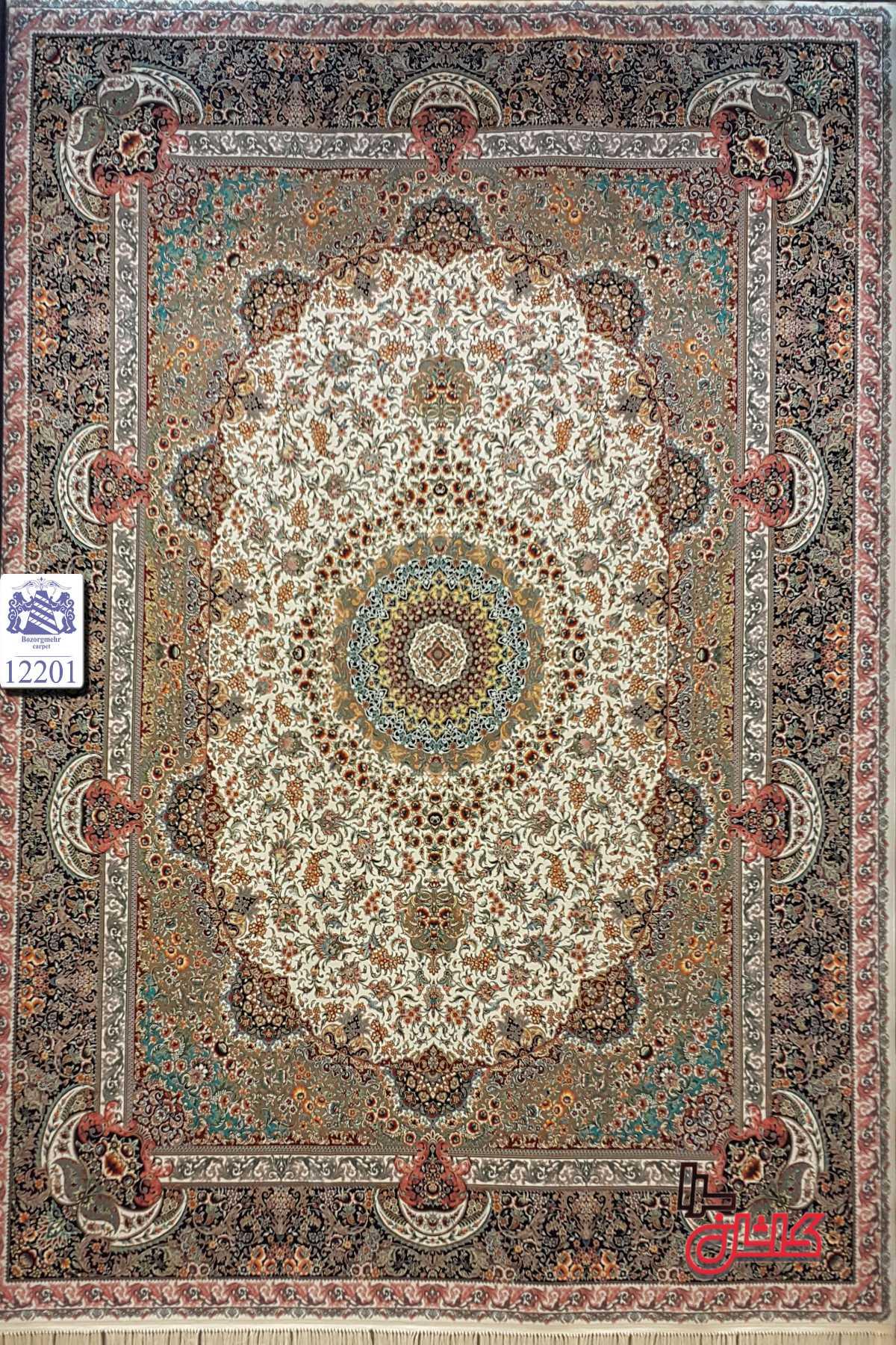 قیمت خرید فرش ماشینی ۱۲۰۰ شانه کاشان کد ۱۲۲۰۱