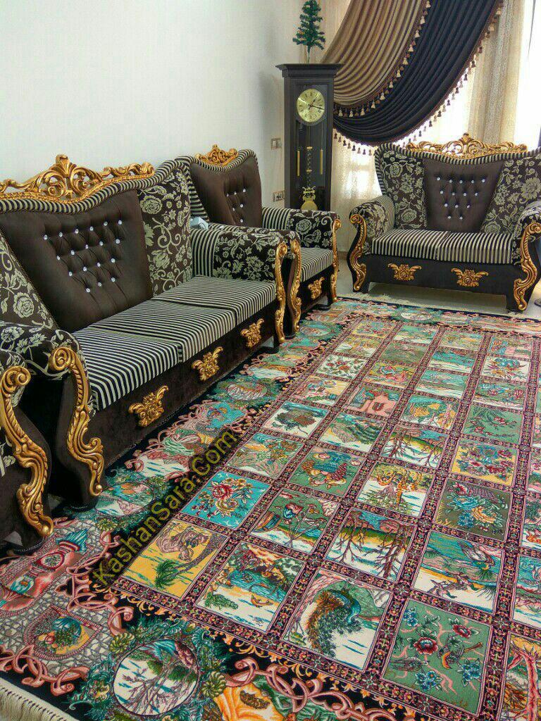 فرش ماشینی کاشان ۱۲۰۰ شانه