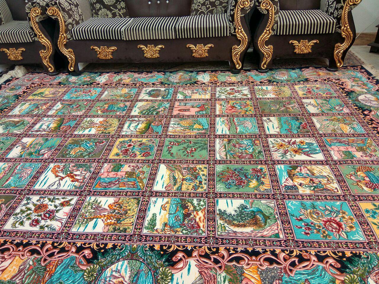 فرش ۱۲۰۰ طرح خشتی گلستان