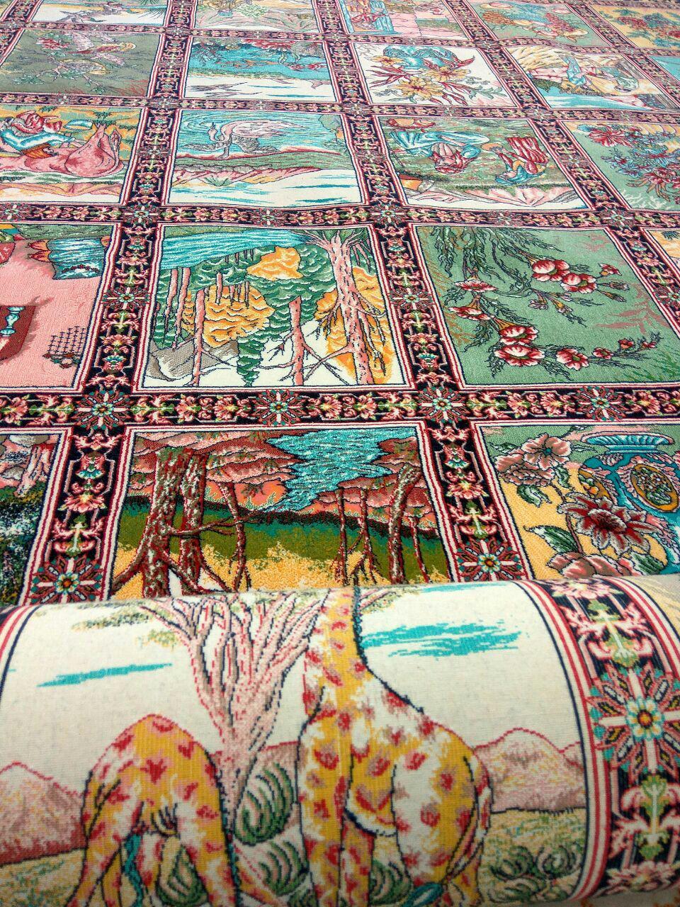فرش ۱۲۰۰ شانه طرح خاص خشتی