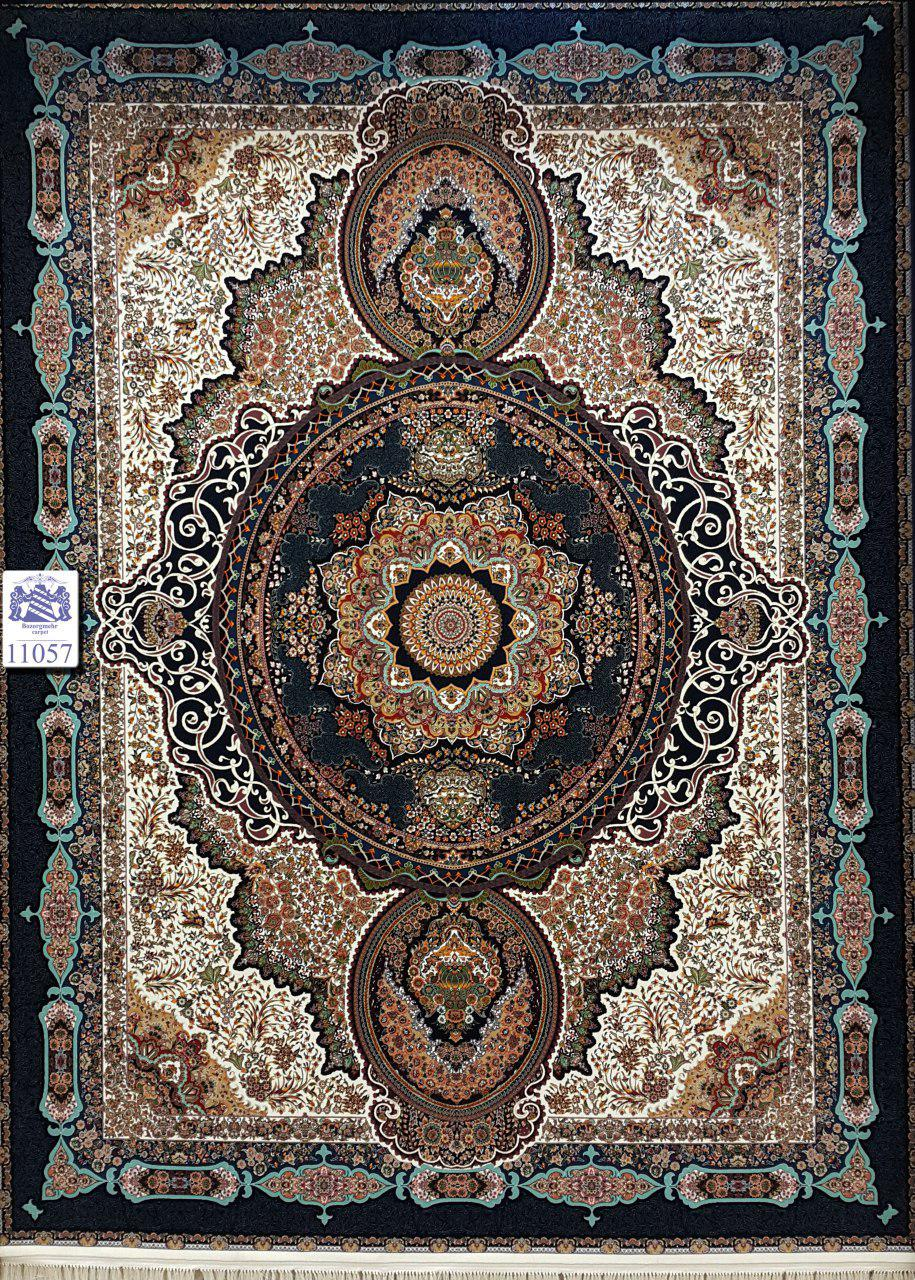 فرش ۱۰۰۰ شانه ده رنگ بزرگمهر کاشان
