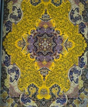 فرش 1000 شانه تراکم 3000 نقشه الی با رنگبندی انحصاری