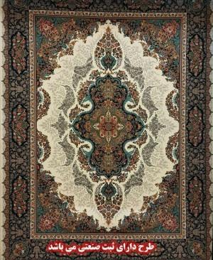فرش کاشان 1200 شانه تراکم 3600 کد زیبا و پرفروش بزرگمهر