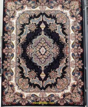 فرش اشکان سرمه ای 700 شانه هشت رنگ