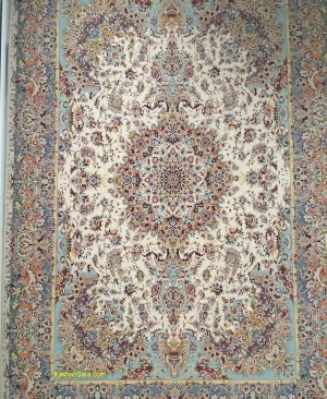فرش 1200 شانه کاشان ،طرح زیبای فیروزه