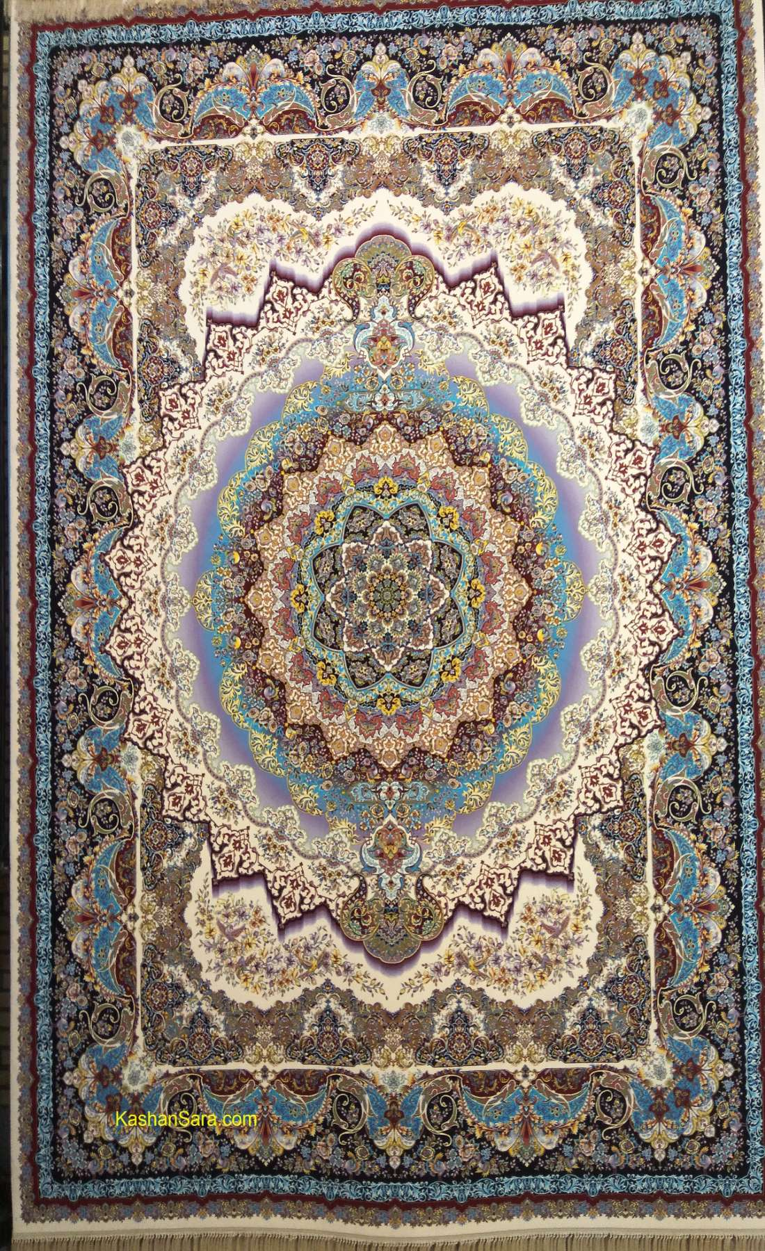 فرش کاشان ۱۲۰۰ شانه طرح کژال