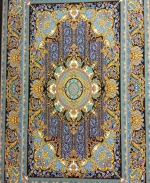 فرش کاشان 1200 شانه طرح فرانسوی (سلطان)