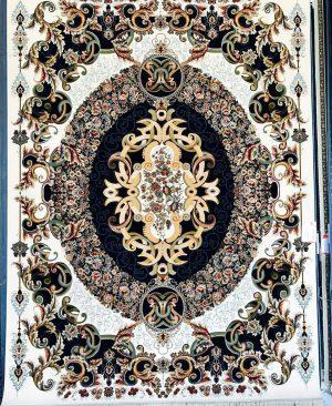 فرش ماشینی کاشان طرح ویولت-3