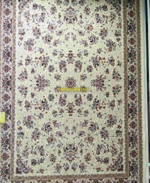 فرش 1200 شانه کاشان طرح زنبق