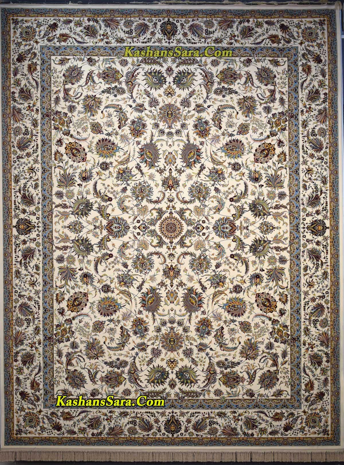 فرش ۱۲۰۰ شانه کاشان نقشه افشان سلطنتی