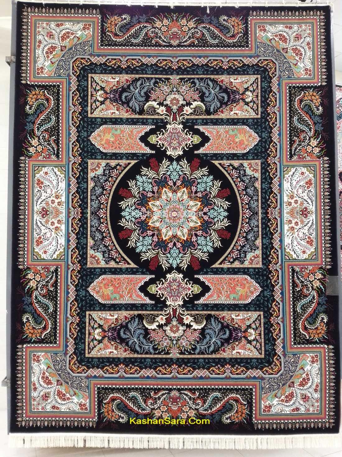 فرش کاشان طرح آتریسا ،۷۰۰ شانه تراکم ۲۵۵۰
