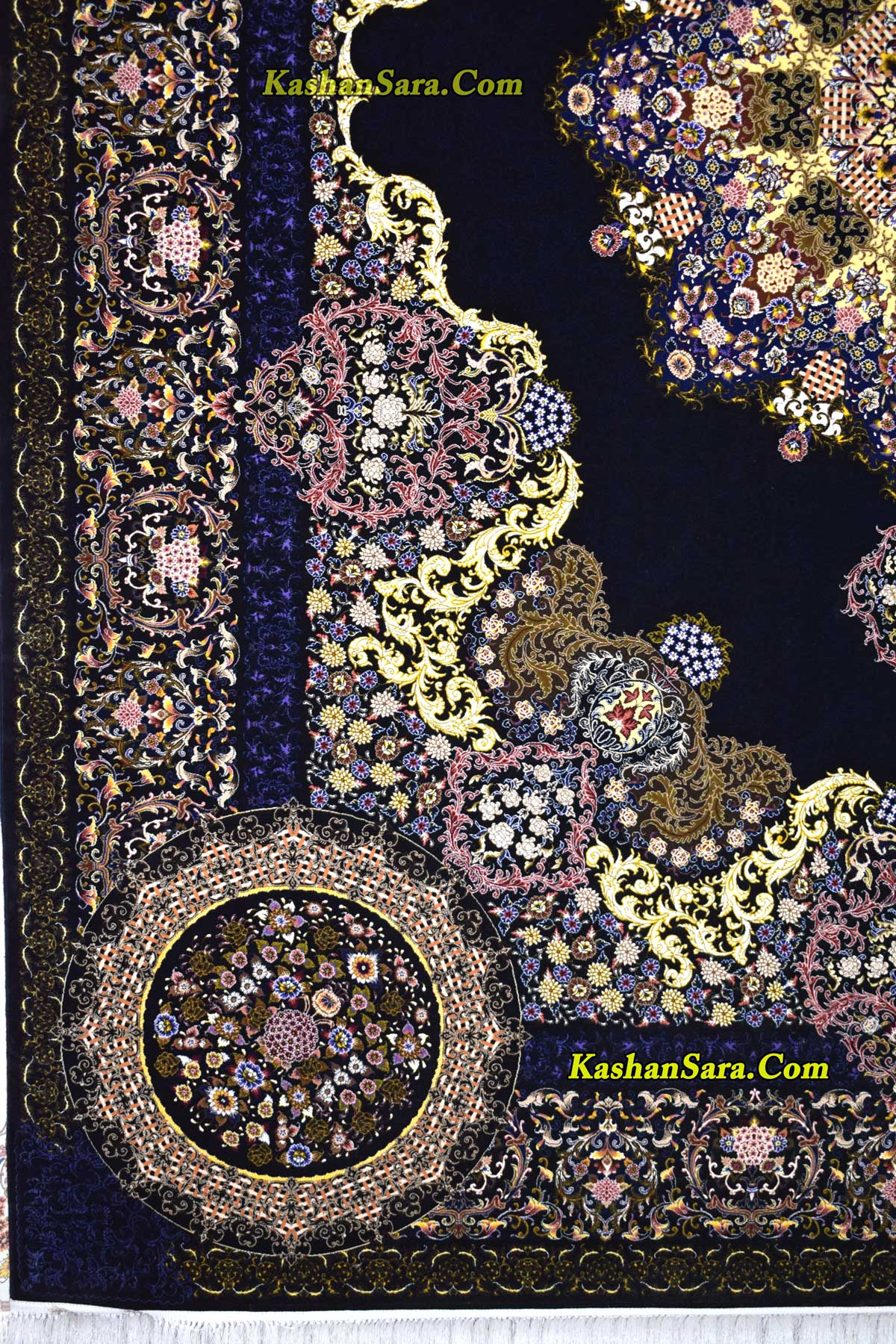 فرش ۱۰۰۰ شانه کاشان نقشه فروزان