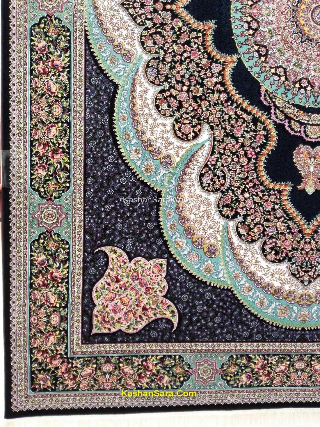 فرش ماشینی ۷۰۰ شانه کاشان طرح آرشیدا