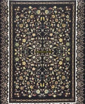 فرش ماشینی 1200 شانه کاشان نقشه زیبای افشان زرگل