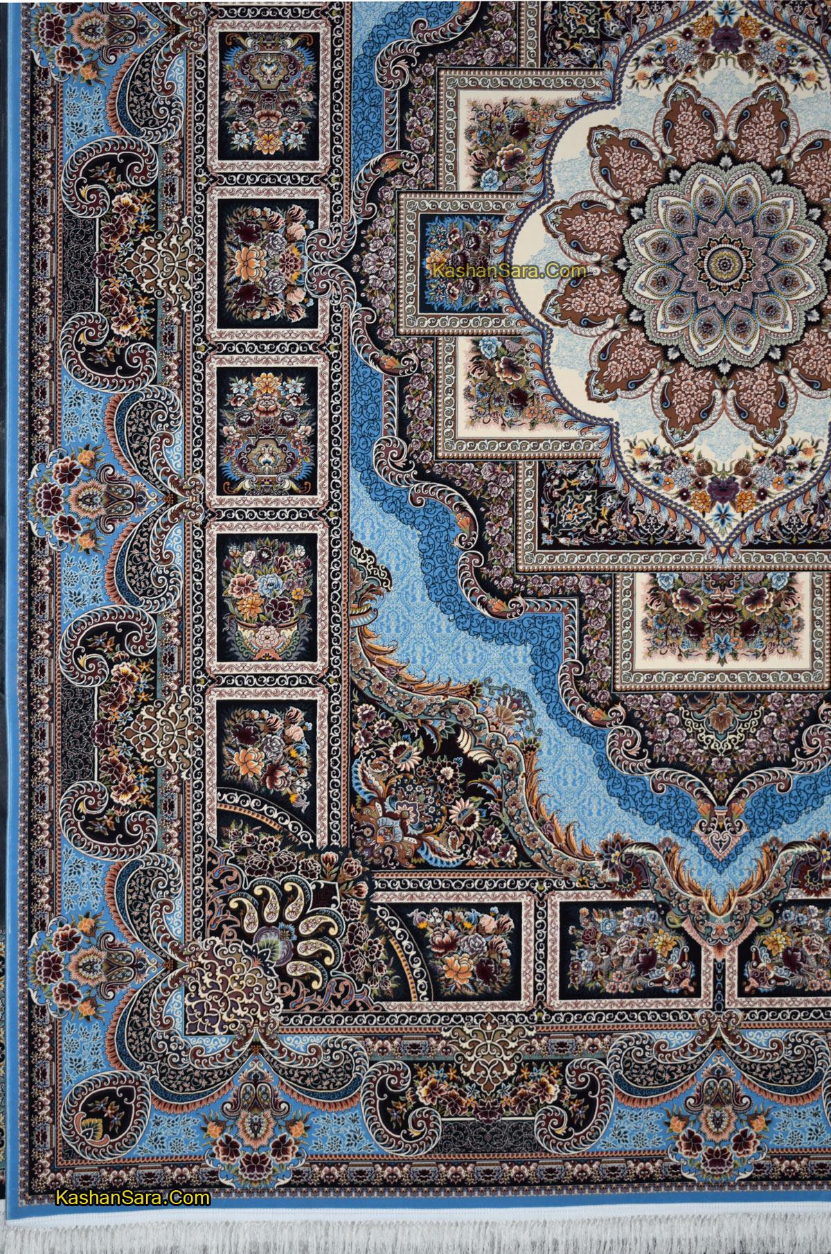 فرش کاشان ۱۲۰۰ شانه نقشه حوض نقره