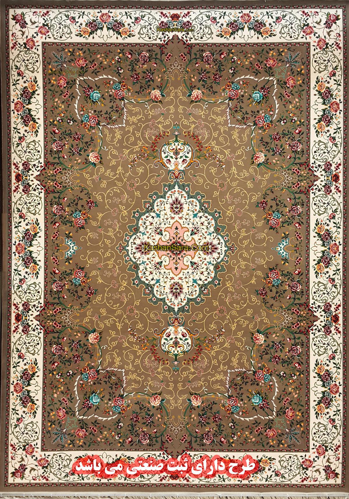 فرش ماشینی ۱۲۰۰ شانه تراکم ۳۶۰۰ نقشه زیبای ۱۲۲۴۹
