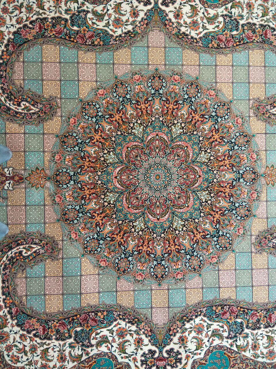 فرش ۱۲۰۰ شانه کاشان نقشه سالار موشی