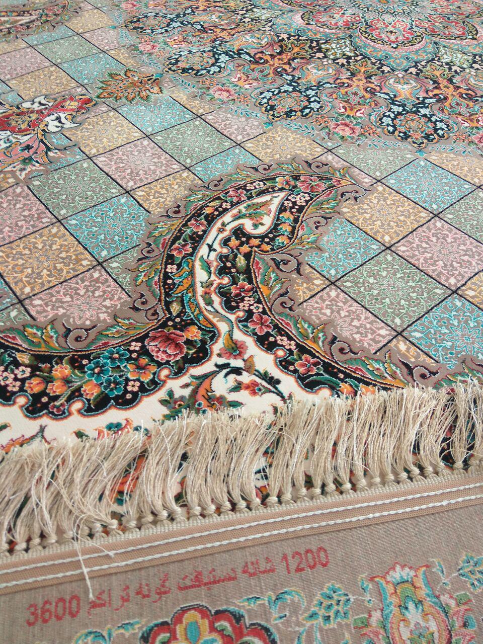 فرش ۱۲۰۰ شانه دستبافت گونه کاشان