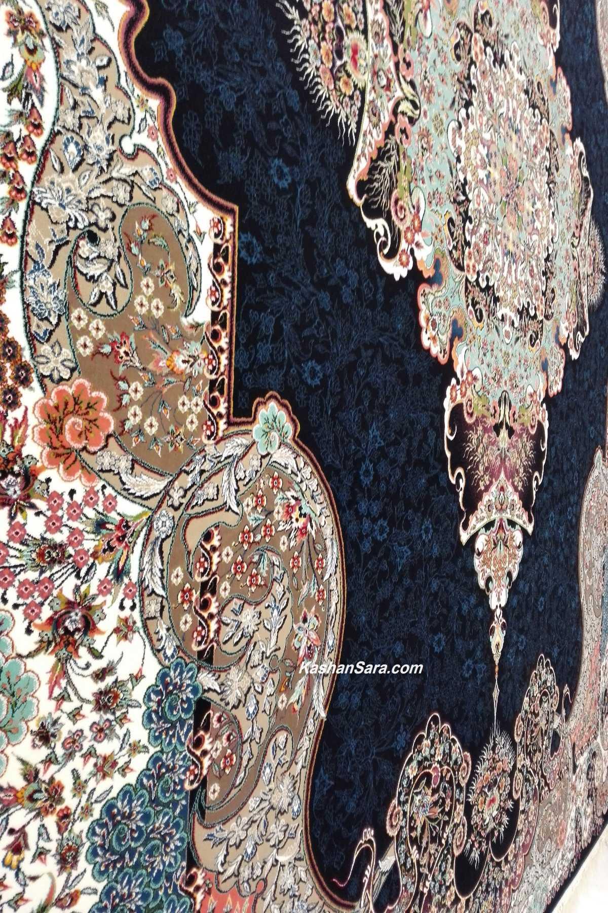 فرش ۷۰۰ شانه کاشان تراکم ۲۵۵۰ نقشه الی