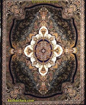 فرش ماشینی 1000 شانه کاشان طرح ترلان