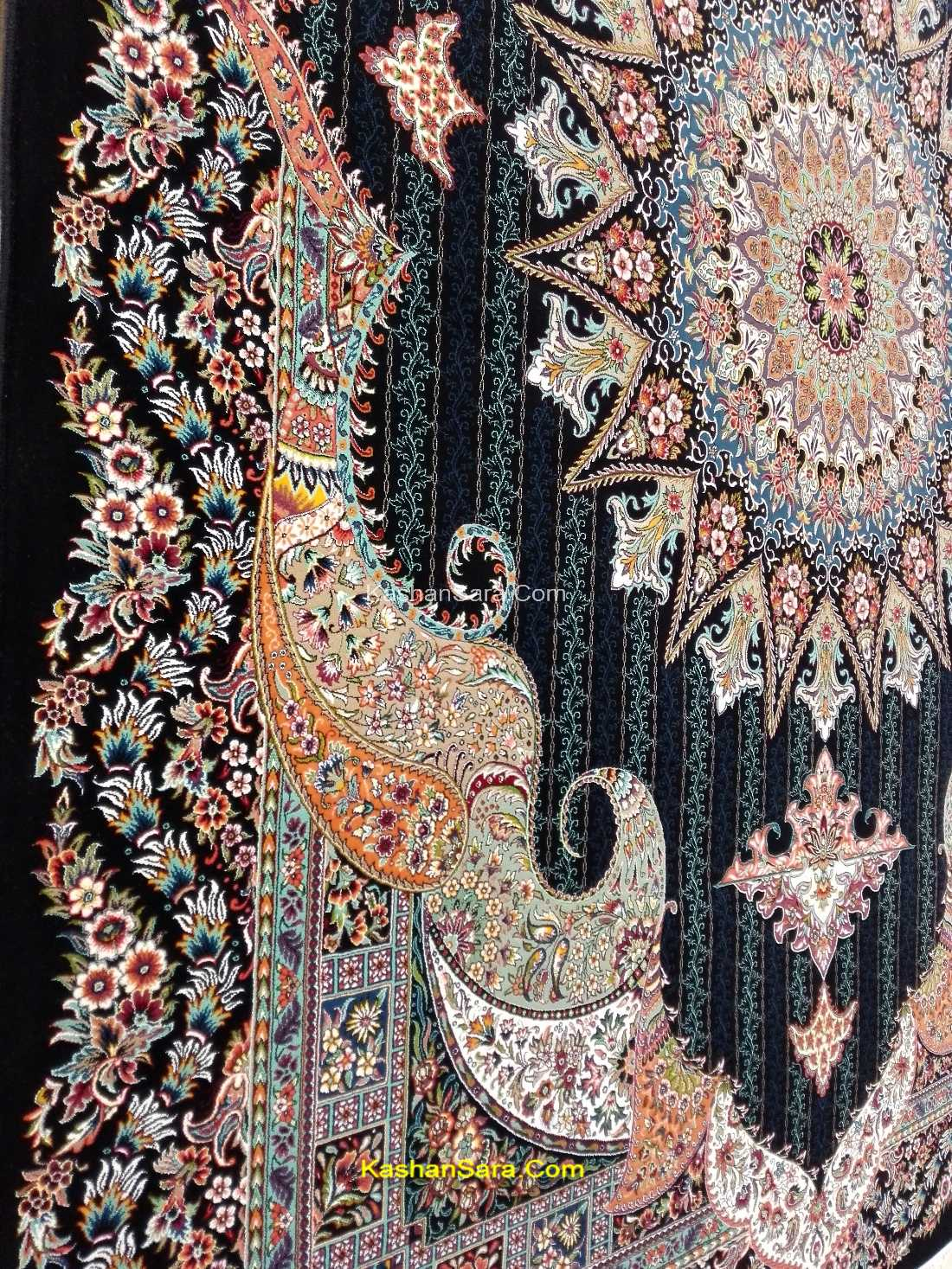 فرش ماشینی ۷۰۰ شانه طرح اساطیر