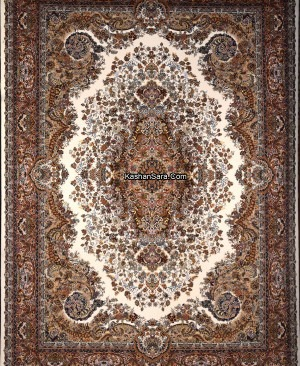 فرش ماشینی طرح موج مهر 1000 شانه تراکم 3000