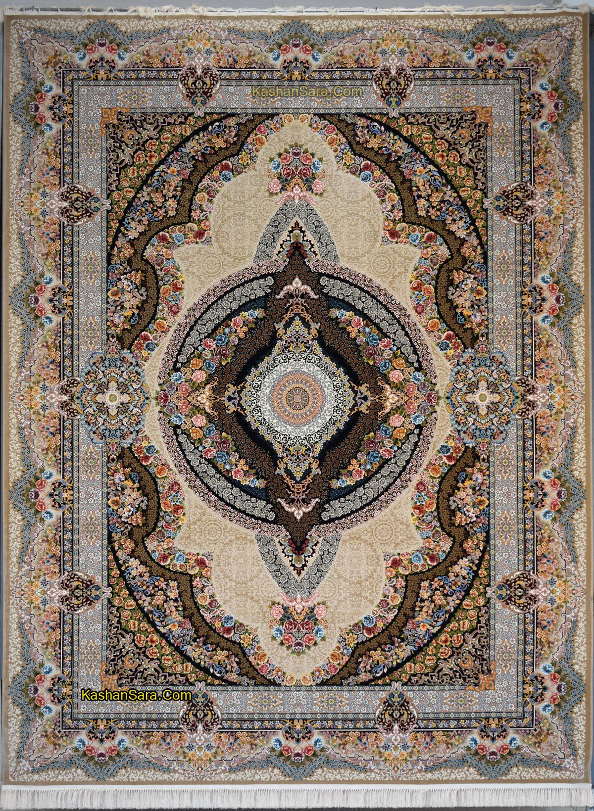 فرش ۱۲۰۰ شانه کاشان مدل کرشمه