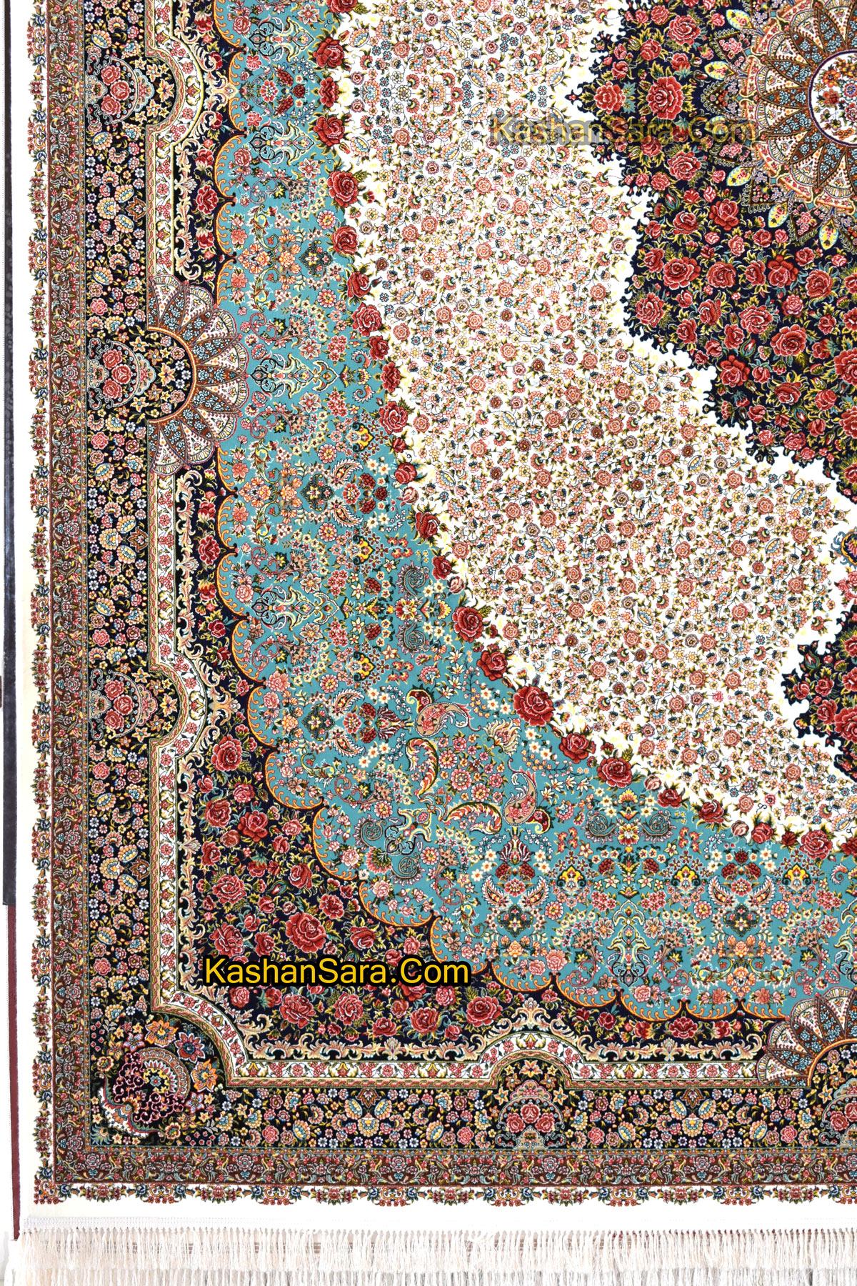 فرش ماشینی طرح رز (شاهدیس)۱۰۰۰ شانه
