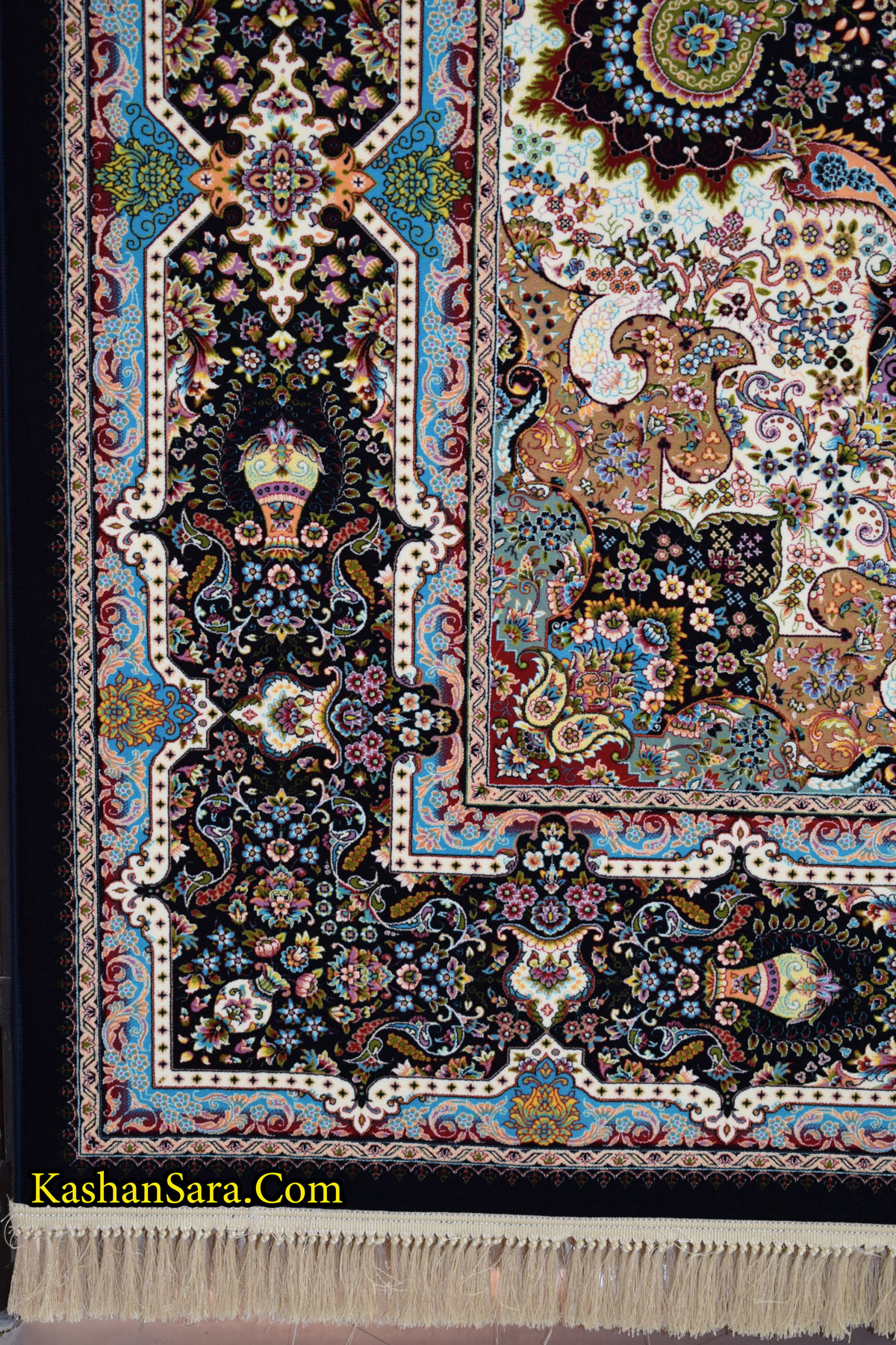 قیمت فرش ماشینی کاشان طرح خاتون ۱۲۰۰ شانه