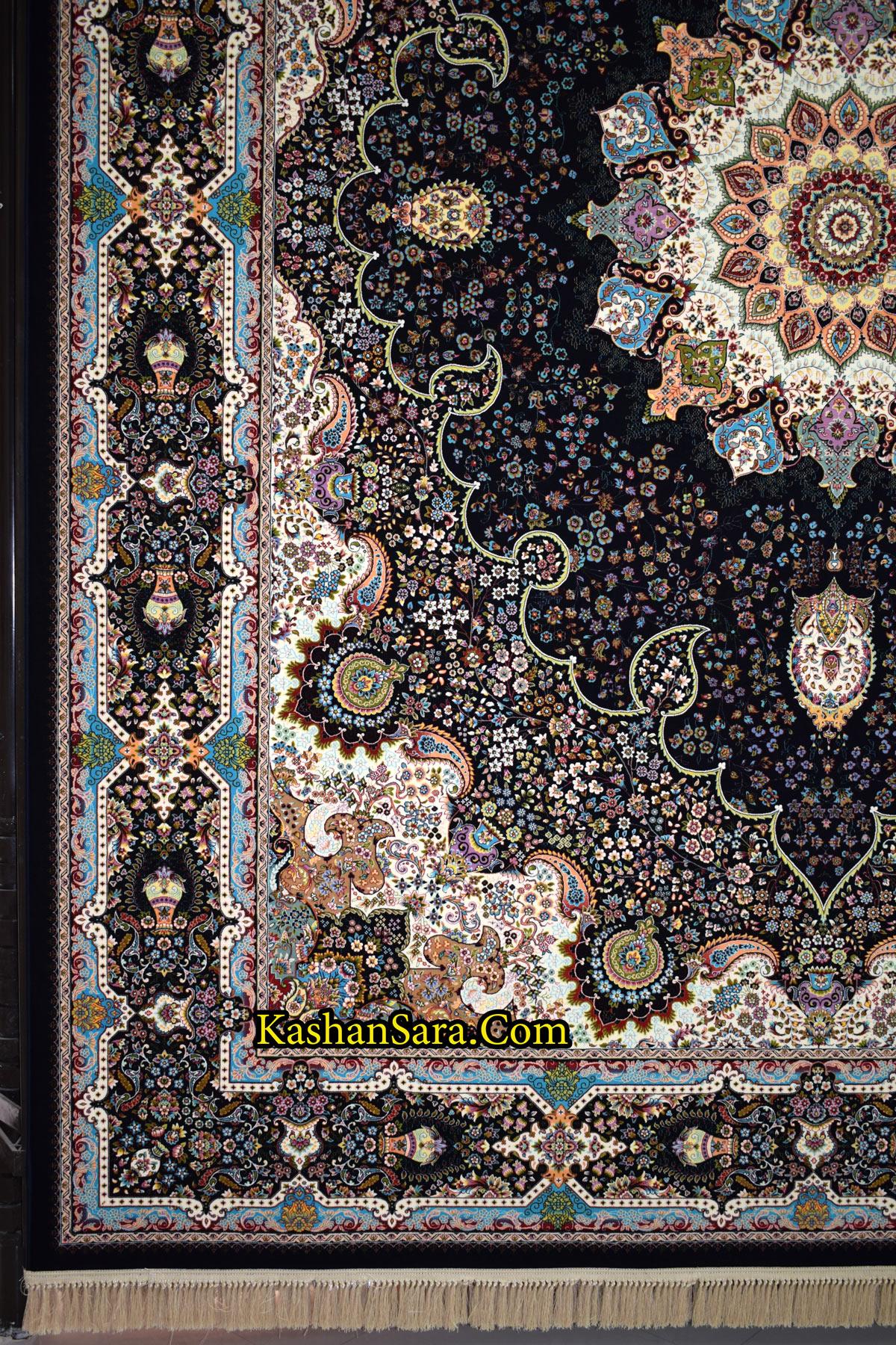 فرش ماشینی کاشان ۱۲۰۰ شانه طرح خاتون