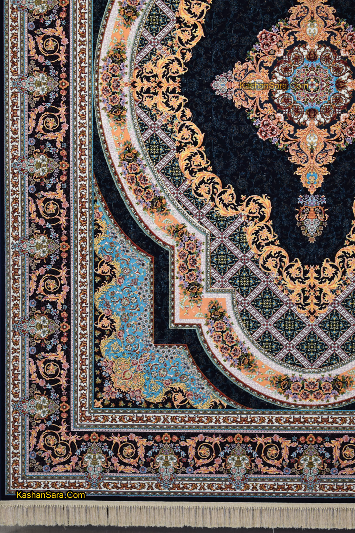 قیمت فرش کاشان طرح زرنگار ۱۲۰۰ شانه