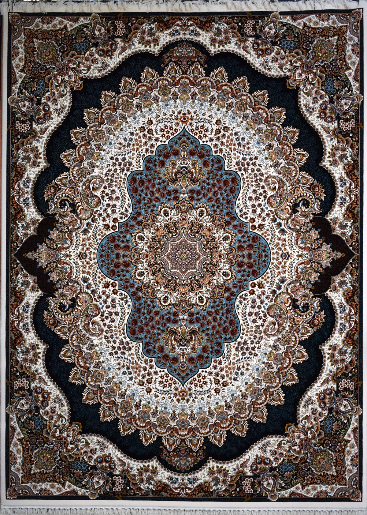 فرش ۷۰۰ شانه ارکیده کرم فرش کاشان