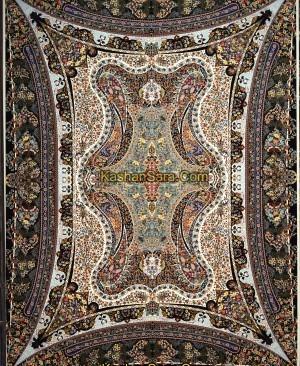 فرش هزار شانه طرح طلا
