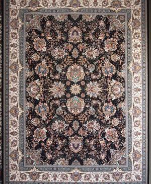 فرش 9 متری سرمه ای طرح یاشار