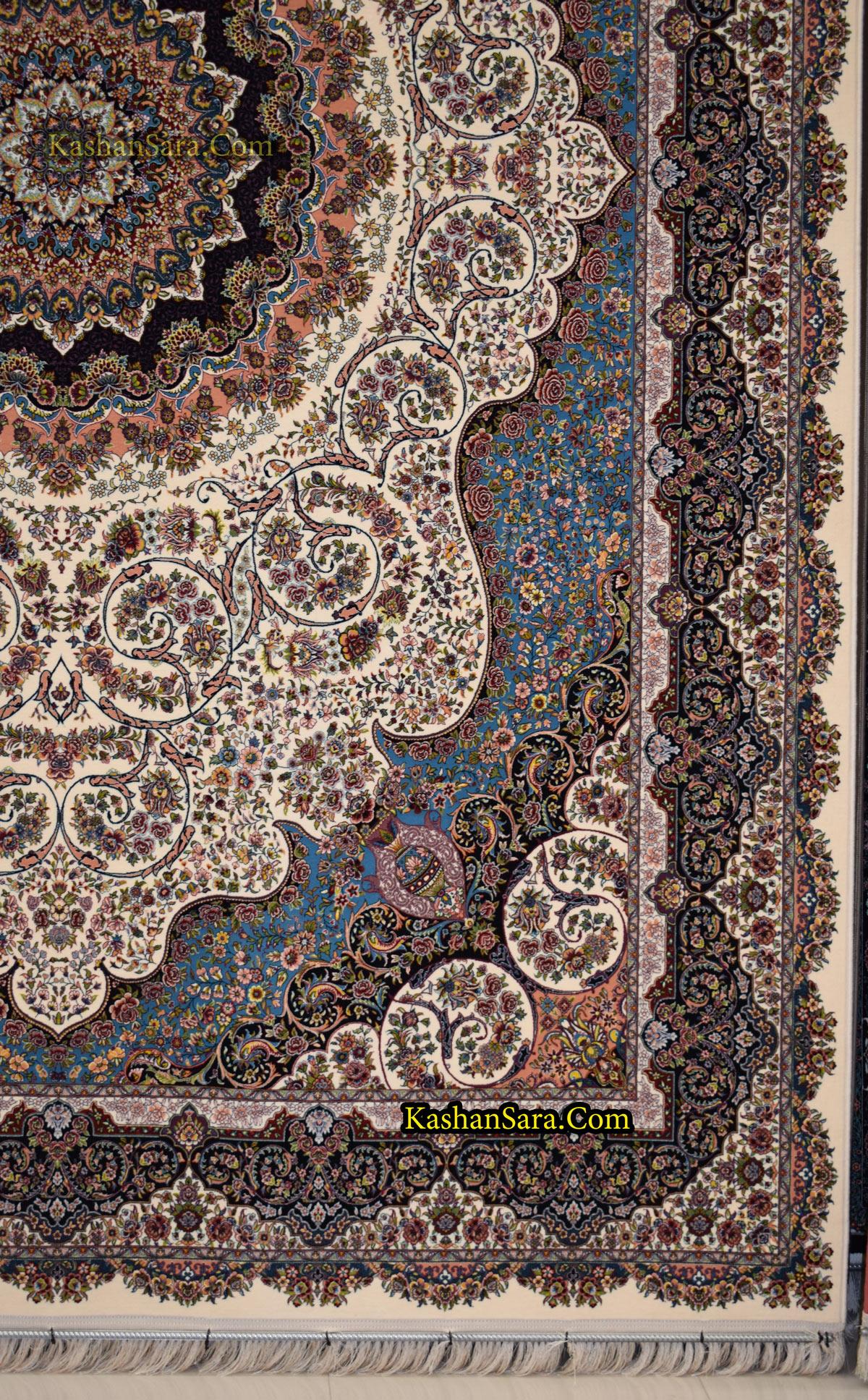 فرش ماشینی کاشان نقشه صوفیا ۱۲۰۰ شانه