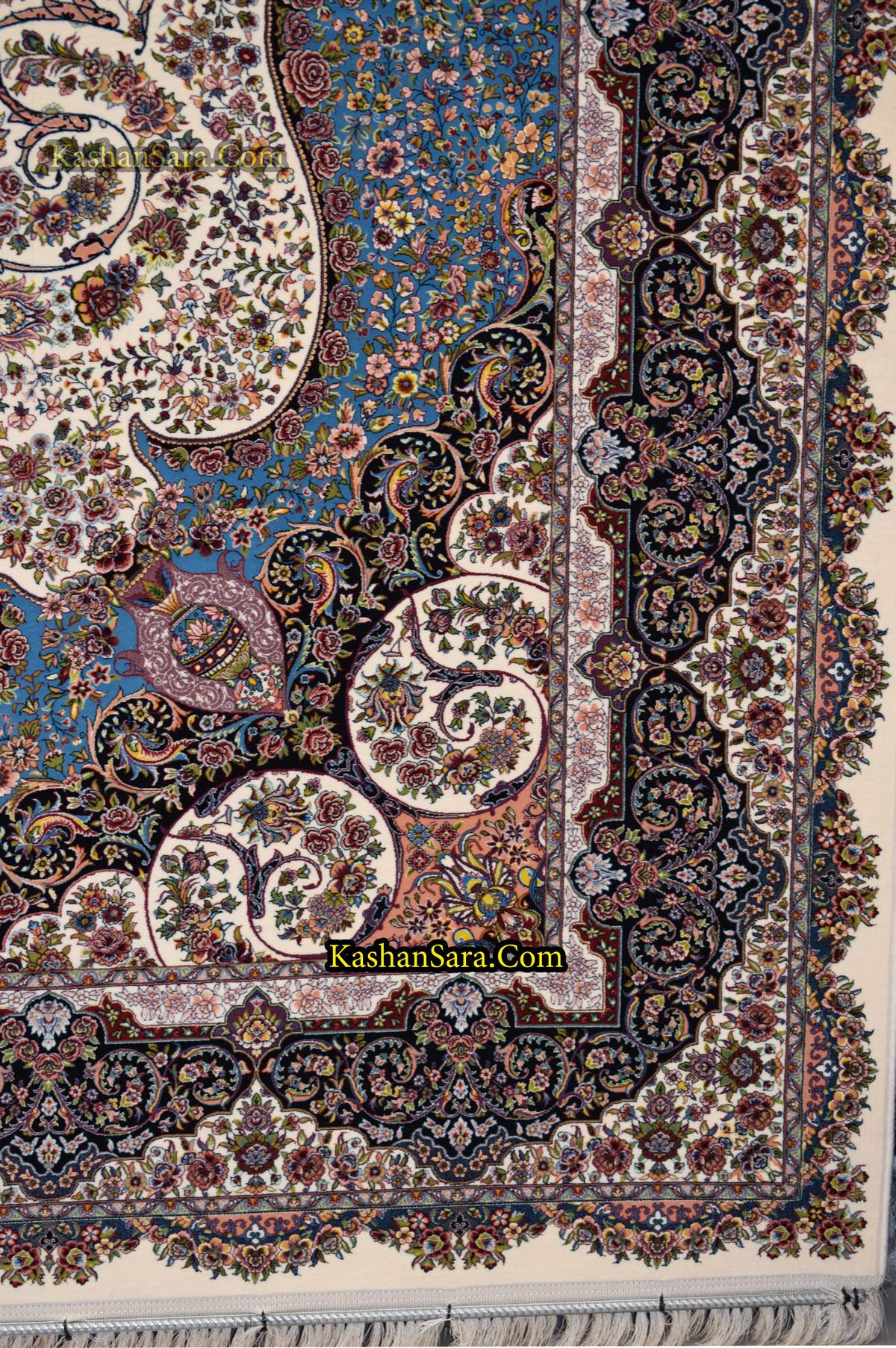 قیمت فرش ۱۲۰۰ شانه ماشینی کاشان طرح صوفیا