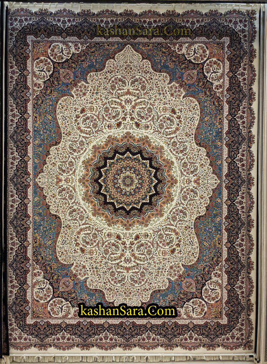 فرش ۱۲۰۰ شانه طرح صوفیا تراکم ۳۶۰۰
