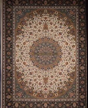 فرش کاشان-1200 شانه تراکم 3600 نقشه اصفهان