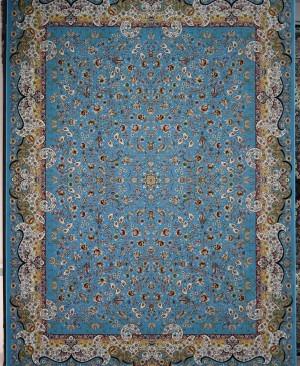فرش 1200 شانه طرح میگل آبی