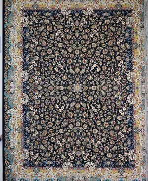 فرش کاشان-1200 شانه طرح میگل