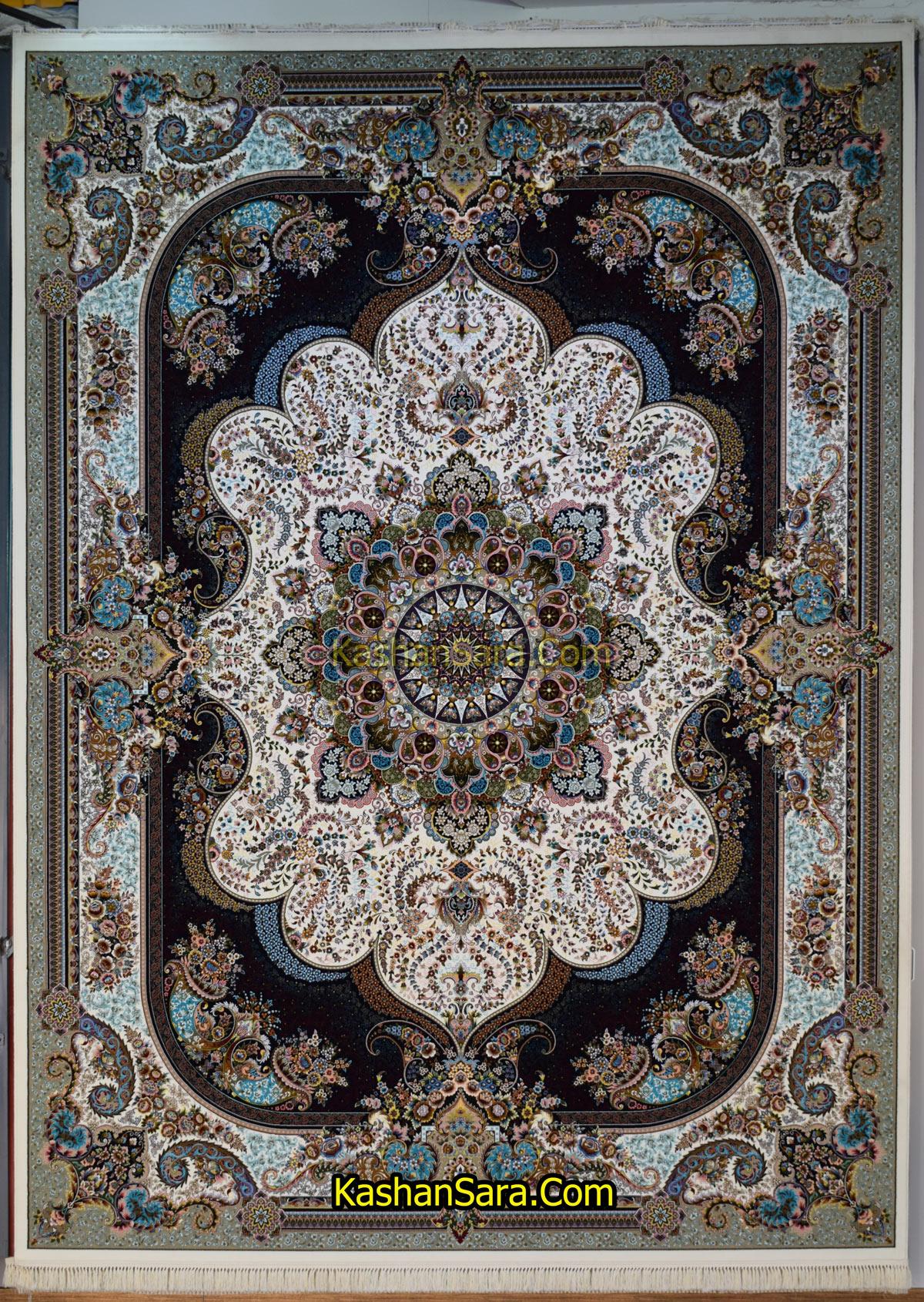 فرش ماشینی کاشان طرح نسترن ۱۰۰۰ شانه